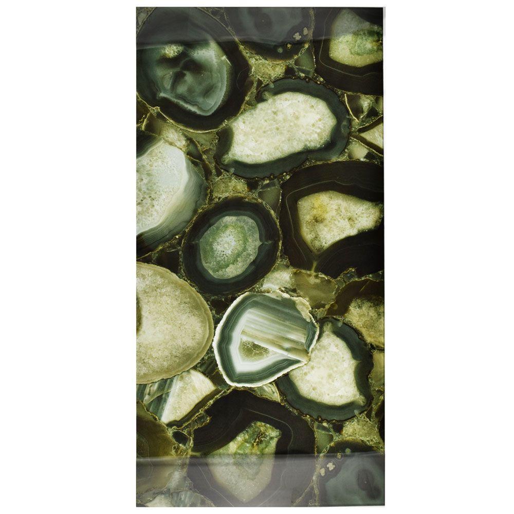 Merola Tile Fossil Panorama Geode Verde 11 3 4 In X 23