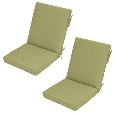 Luxe Solid Outdoor Dining Chair Cushion (2-Pack)