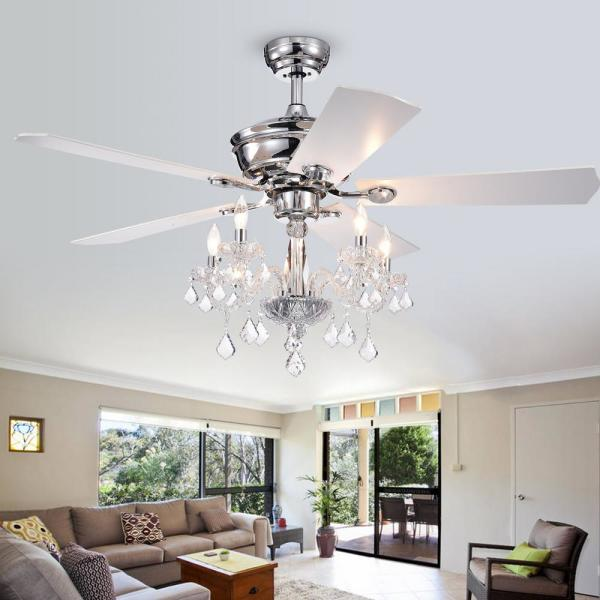 Warehouse Of Tiffany Havorand Iii 52 In Indoor Chrome Remote Ceiling Fan With Light Kit And Crystal Branched Chandelier Cfl8213remoch The Home Depot,Best Natural Mosquito Repellent For Yard