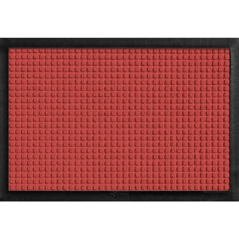 Bungalow Flooring Aqua Shield with Rubber Border Red 17.5 in. x 26.5 in. Pet Mat