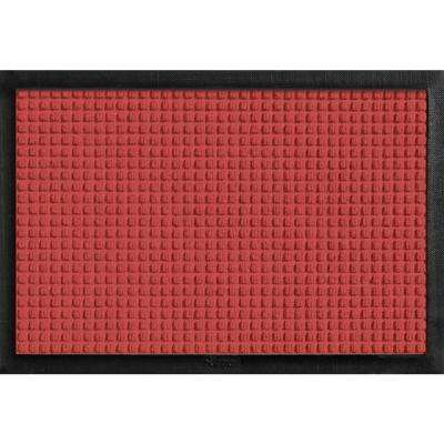 Aqua Shield with Rubber Border Red 17.5 in. x 26.5 in. Pet Mat