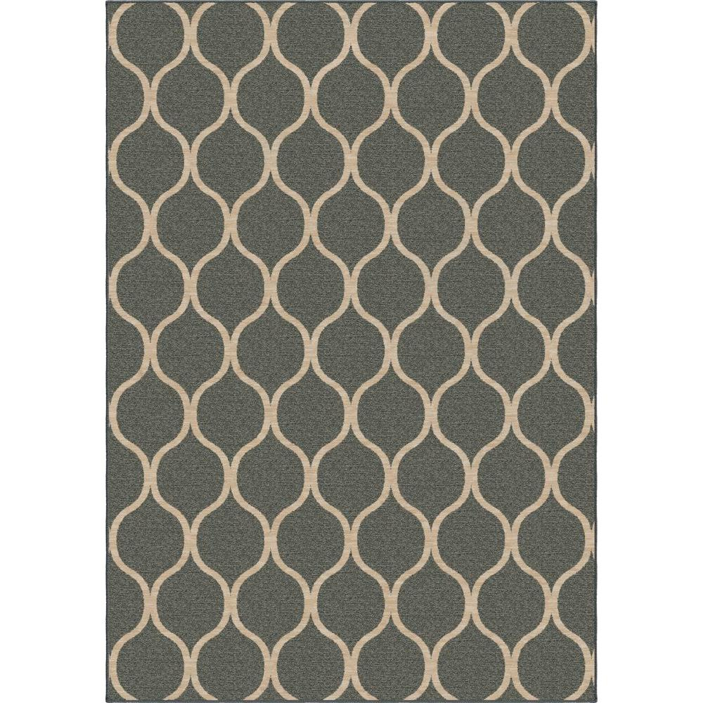 Orian Rugs Pyrenees Slate Blue 7 ft. 10 in. x 10 ft. 10 in. Indoor Area Rug