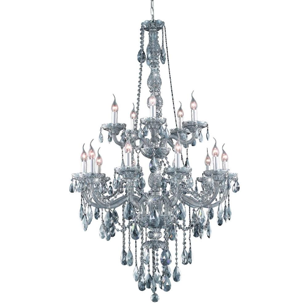 Elegant lighting 15 light silver shade chandelier with grey crystal elegant lighting 15 light silver shade chandelier with grey crystal aloadofball Image collections
