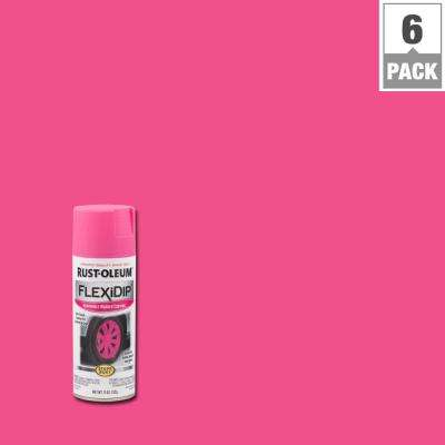 11 oz. Bright Pink Spray Paint (6-Pack)