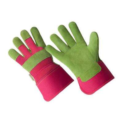 Medium Ladies Premium Suede Leather Palm Gloves