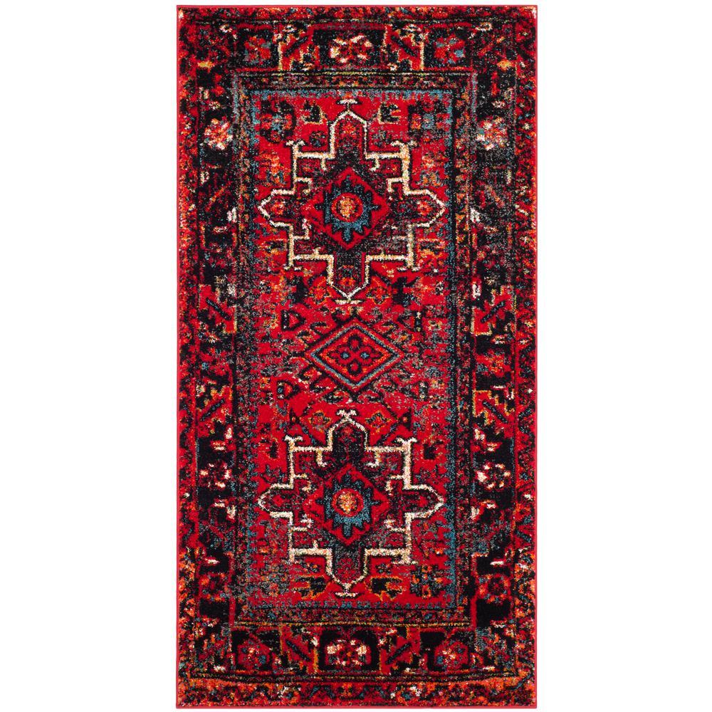 Safavieh Vintage Hamadan Red/Multi 2 Ft. 7 In. X 5 Ft