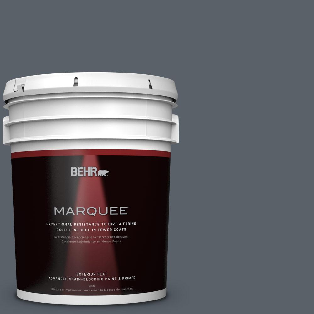 BEHR MARQUEE Home Decorators Collection 5-gal. #HDC-AC-25 Blue Metal Flat Exterior Paint