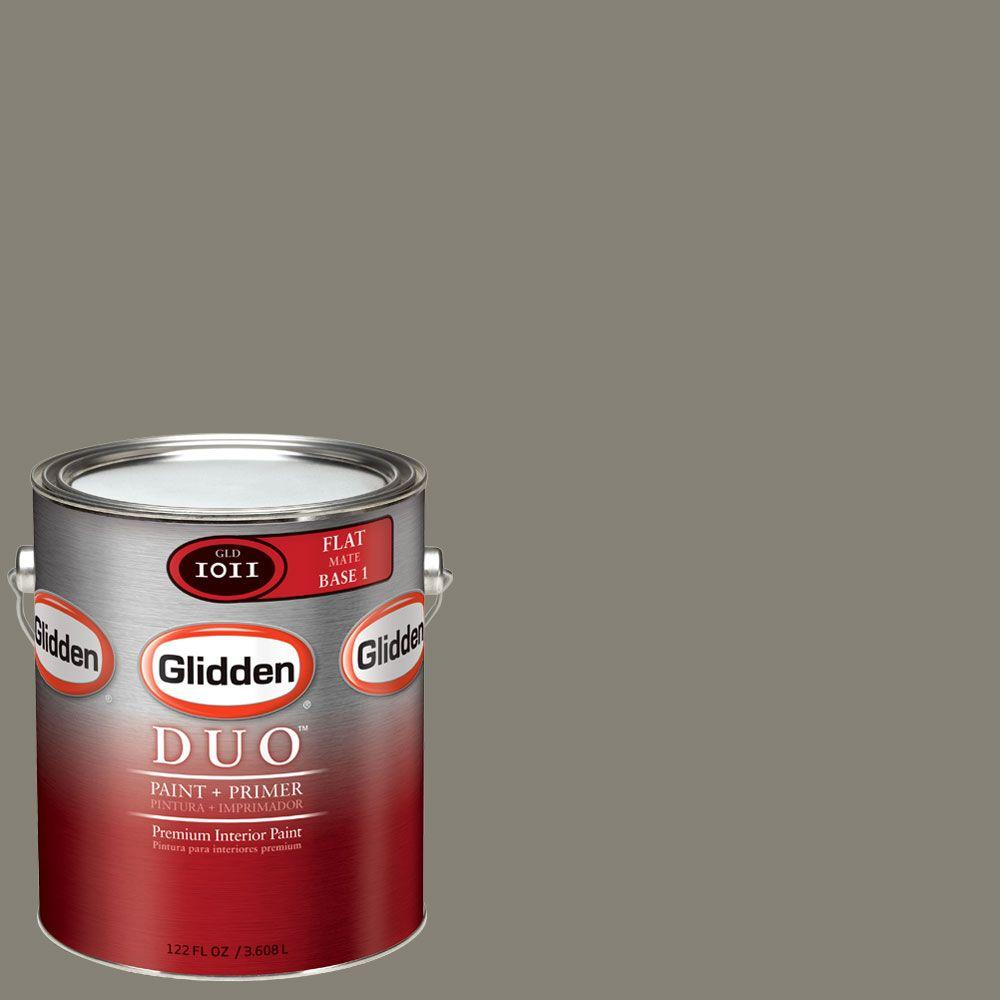 Glidden DUO Martha Stewart Living 1-gal. #MSL238-01F Thunderhead Flat Interior Paint with Primer - DISCONTINUED