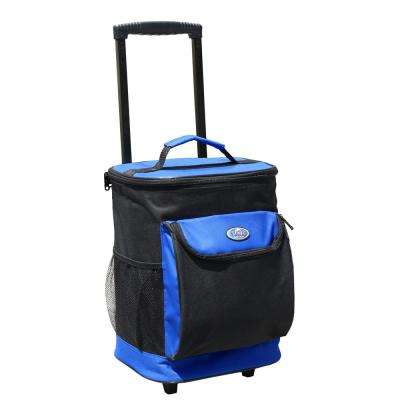 "30 Qt. ""Cool Carry"" Softside Rolling Cooler in Royal Blue"