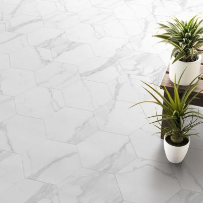 Toscana Carrara Hexagon 9 in. x 10 in. Matte Glazed Porcelain Floor and Wall Tile (8.06 sq. ft. / Case)