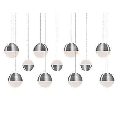 Jessa 1-Light 60-Watt Equivalence Brushed Nickel Integrated LED Pendant