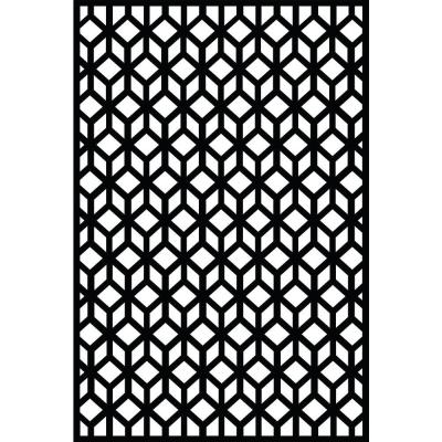 Cubism 71 in. x 47 in. Recycled Plastic Decorative Screen (Bundle of 5)