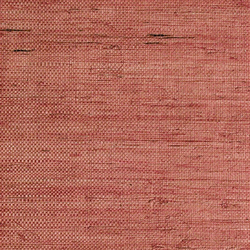 The Wallpaper Company 72 sq. ft. Red Grasscloth Wallpaper-DISCONTINUED