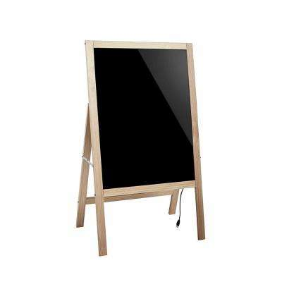 22 in. x 40 in. A-Stand LED Illuminated Wooden Message Writing Board