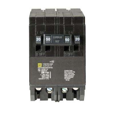 Homeline 2-20 Amp Single-Pole 1-50 Amp 2-Pole Quad Tandem Circuit Breaker