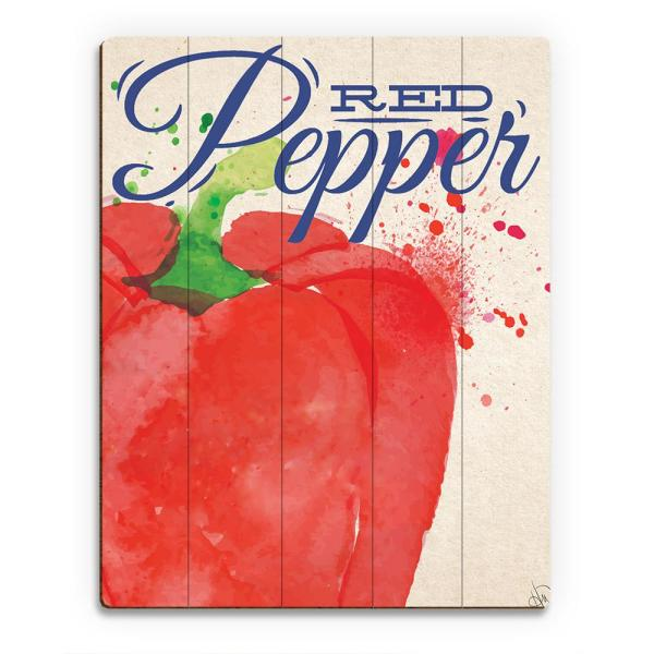 Creative Gallery 20 in. x 24 in. Large Red Pepper on