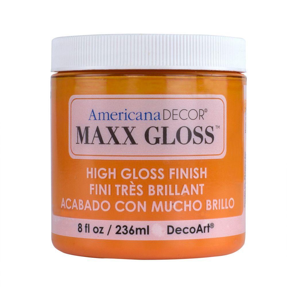 Americana Decor Maxx Gloss 8 oz. Orange Slice Paint