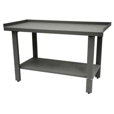 Industrial 59 in. Steel Workbench