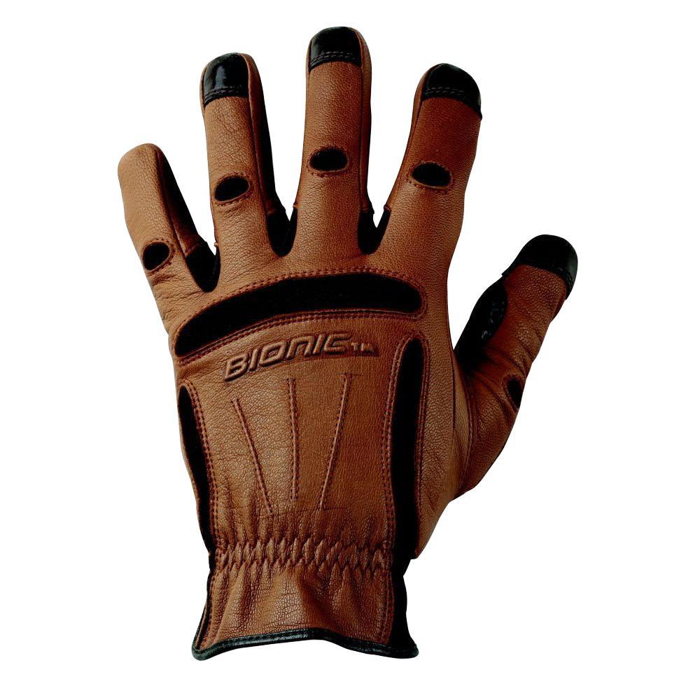 Tough Pro Men's XX-Large Work Gloves,  Deep Brown