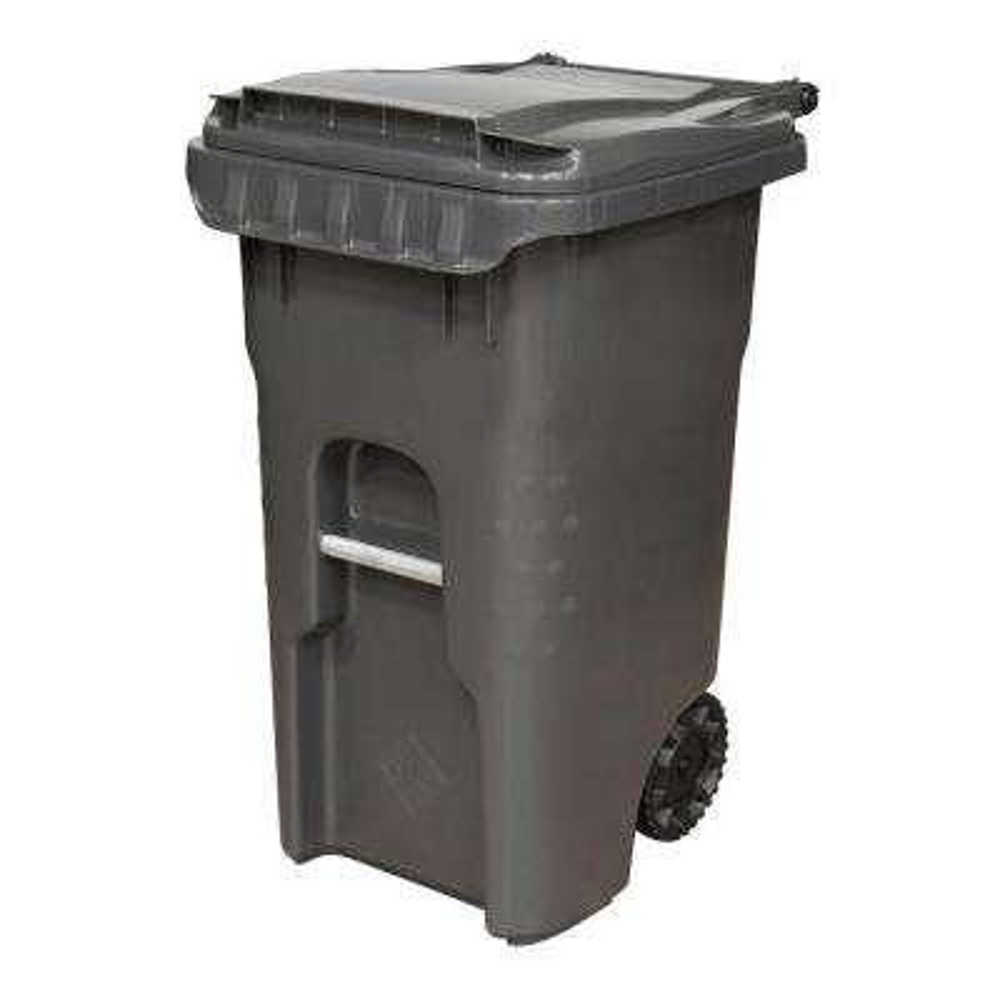 Edge 45 Gal. Grey Heavy Duty Rollout Trash Can