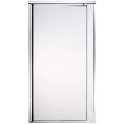 Vista Point 36 in. x 65-1/2 in. Framed Pivot Shower Door in Silver with Frosted Glass Pattern
