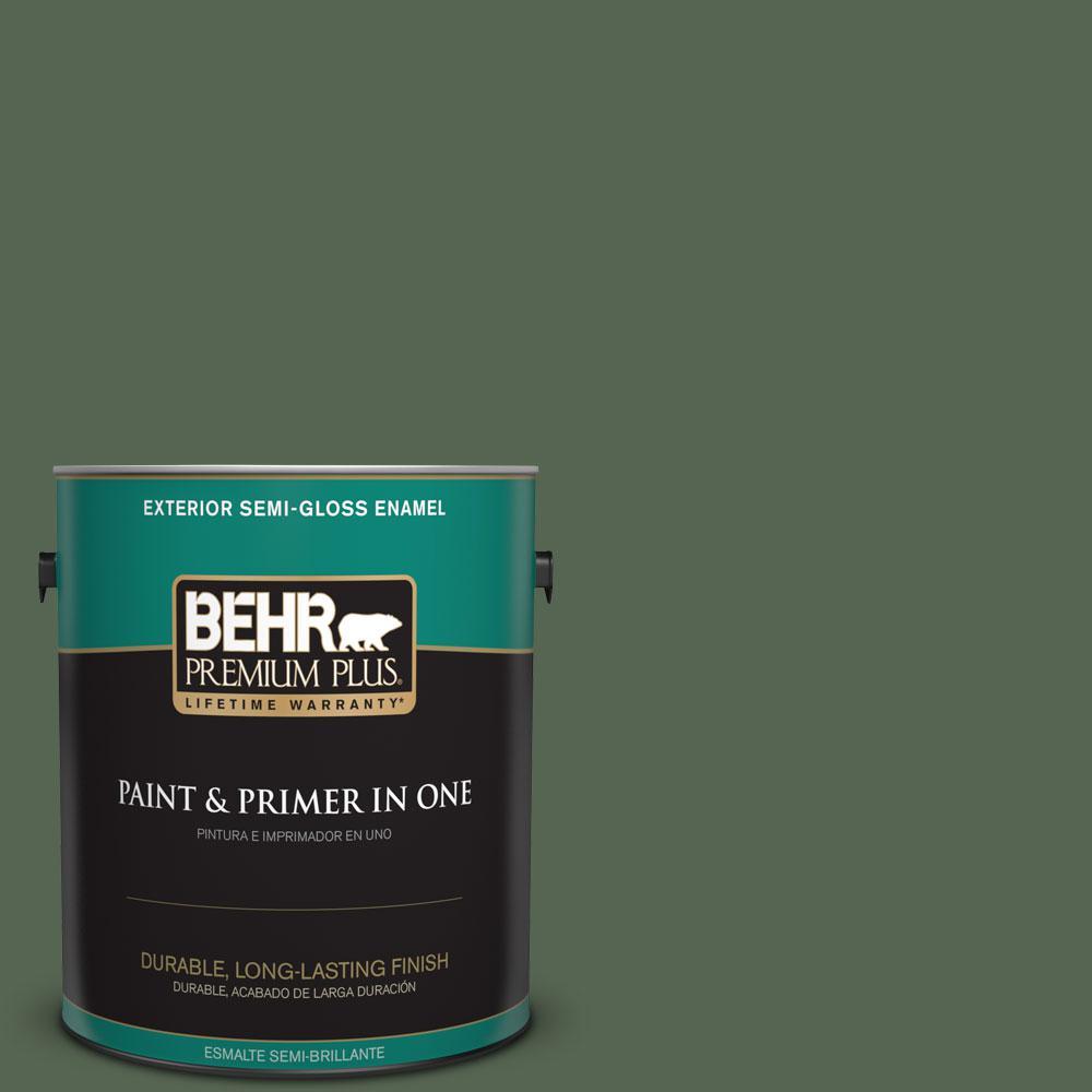 1 gal. #HDC-WR15-11 Deep Emerald Semi-Gloss Enamel Exterior Paint