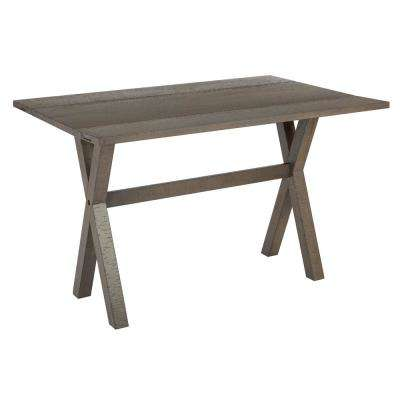 McKayla Distressed Washed Grey Flip Top Table