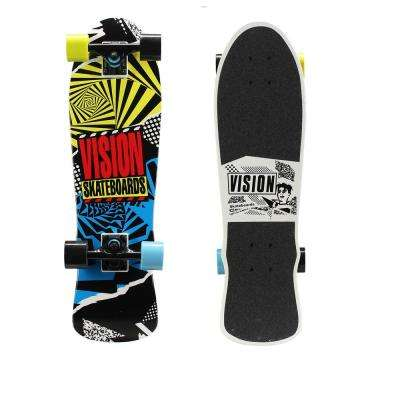 28 in. Mini Cruiser Skateboard in Hot Mess Graphic