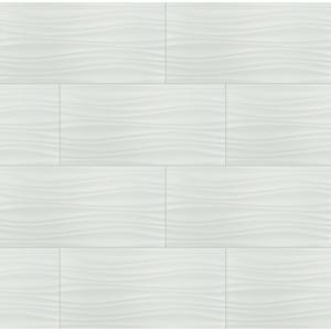 Msi Onda Blanco 12 In X 24 In Glossy Ceramic Floor And Wall Tile 16 Sq Ft Case Nhdondbla1224 The Home Depot