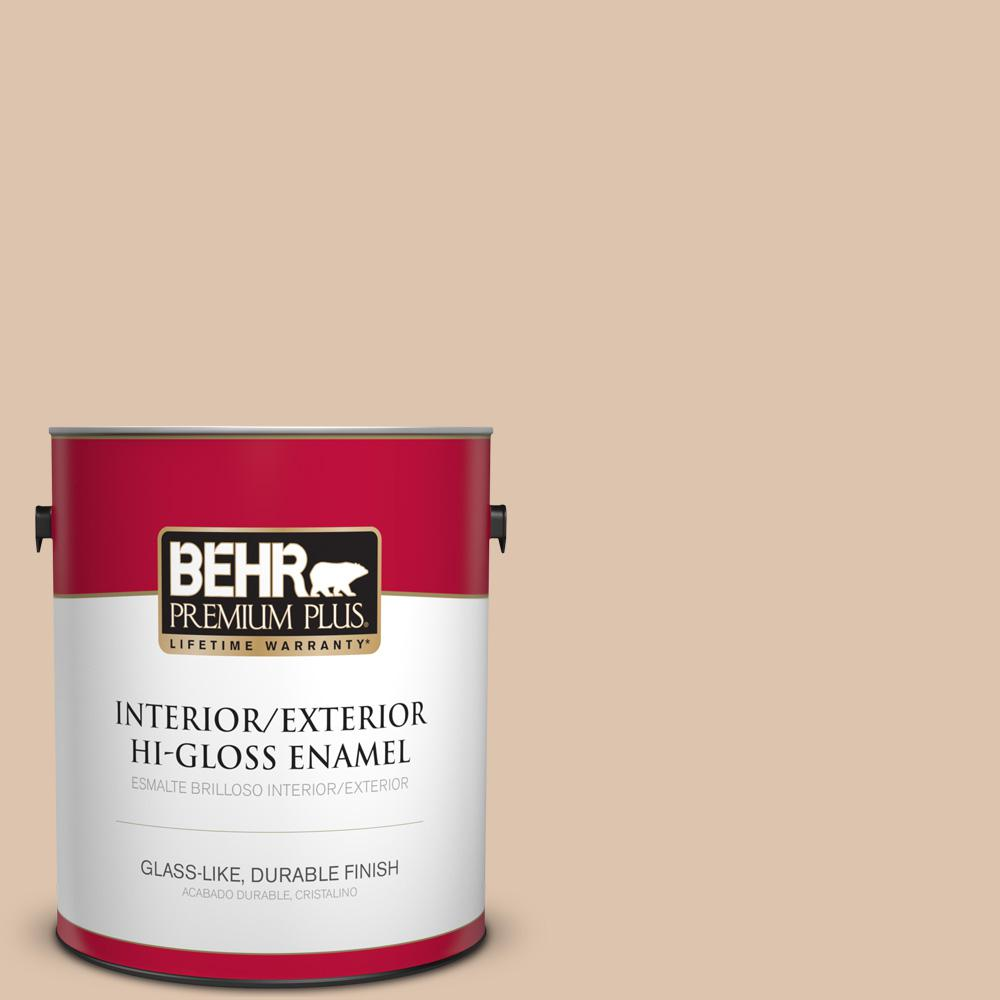 1 gal. #PPU3-08 Sienna Dust Hi-Gloss Enamel Interior/Exterior Paint