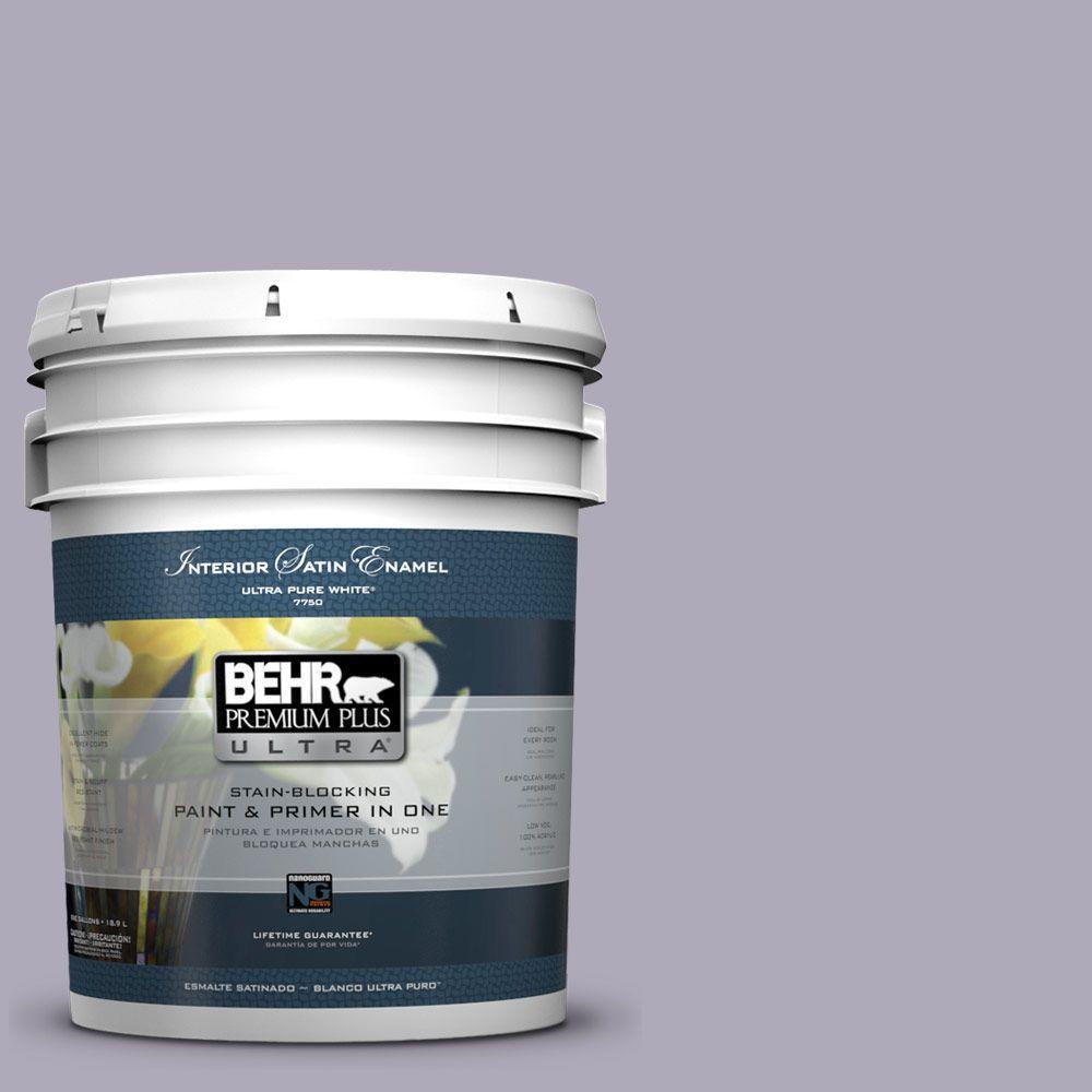 BEHR Premium Plus Ultra 5-gal. #ICC-98 Lilac Bloom Satin Enamel Interior Paint