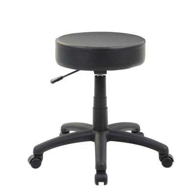 23 in. Black Vinyl Dot Stool