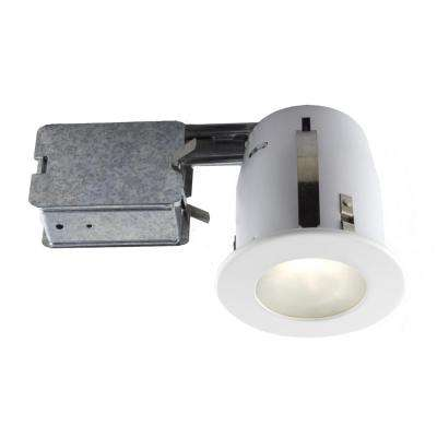 4-in. White Recessed Fixture Kit for Damp Locations