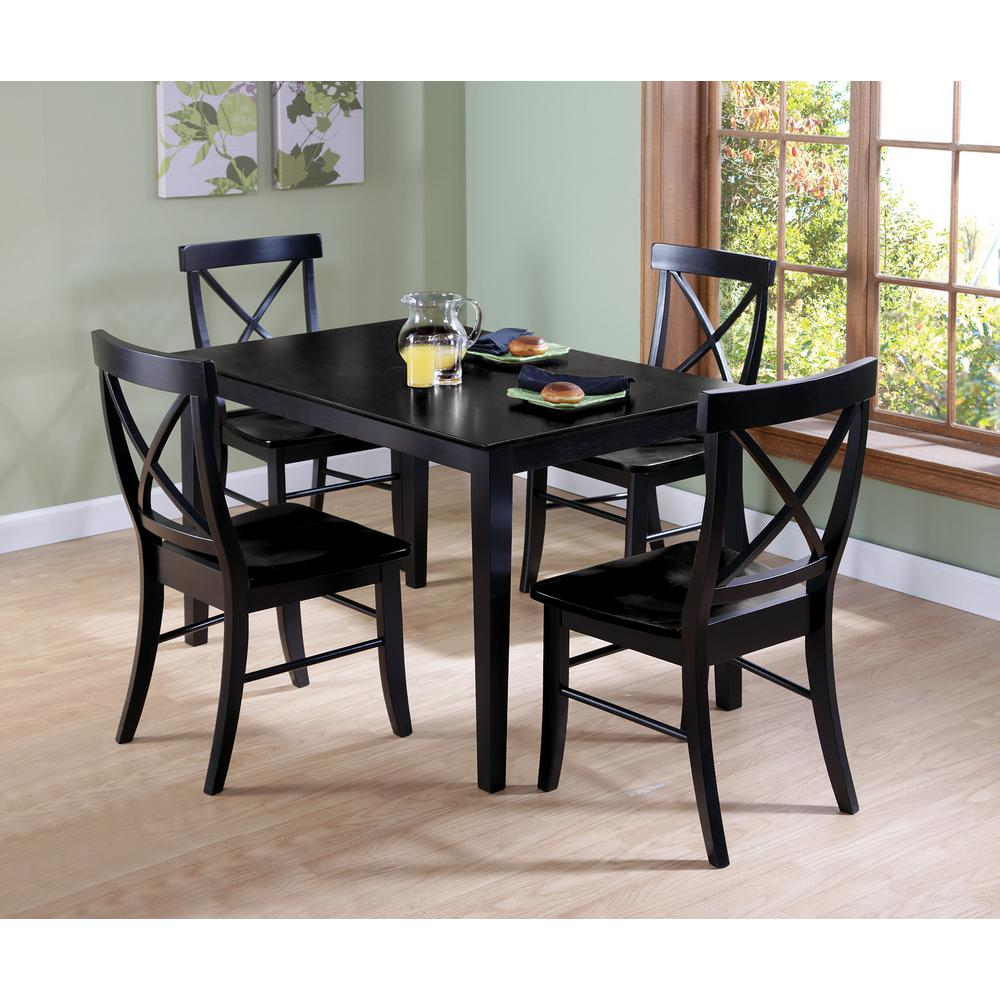 Black Skirted Dining Table