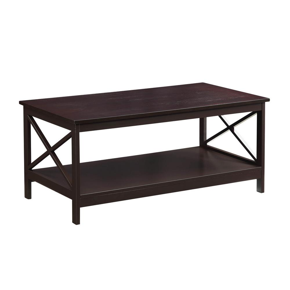 Convenience Concepts Oxford Espresso Coffee Table 203082es The Home Depot