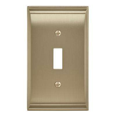 Candler 1 Toggle Golden Champagne Wall Plate