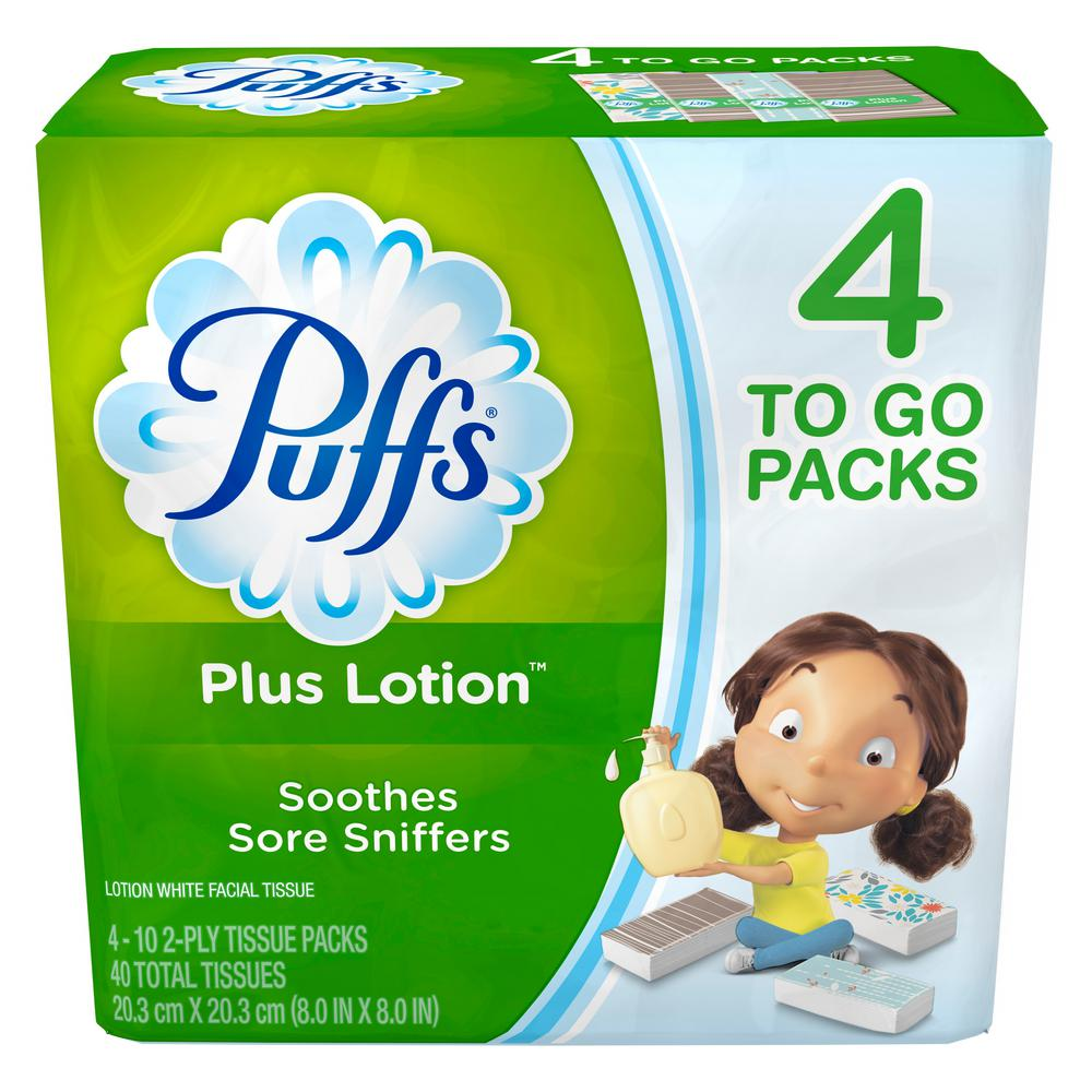 Plus Lotion Facial Tissue 2-Ply (10-Count) (4-Pack)