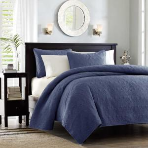 Mansfield 3-Piece Navy King/Cal King Coverlet Set