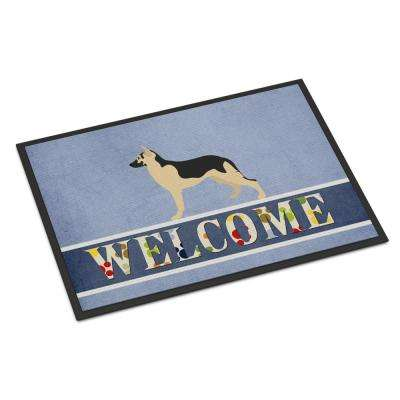 18 in. x 27 in. Indoor/Outdoor German Shepherd Welcome Door Mat