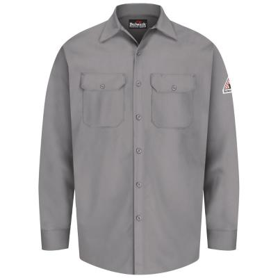 f7fbaab8038a Bulwark iQ Series Men s Medium Grey Endurance Work Shirt-QS40GY RG M ...