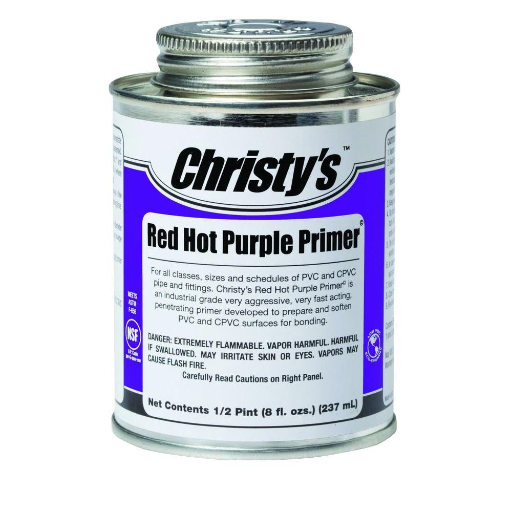 8 oz. Red Hot Purple Primer for PVC CPVC (Case of
