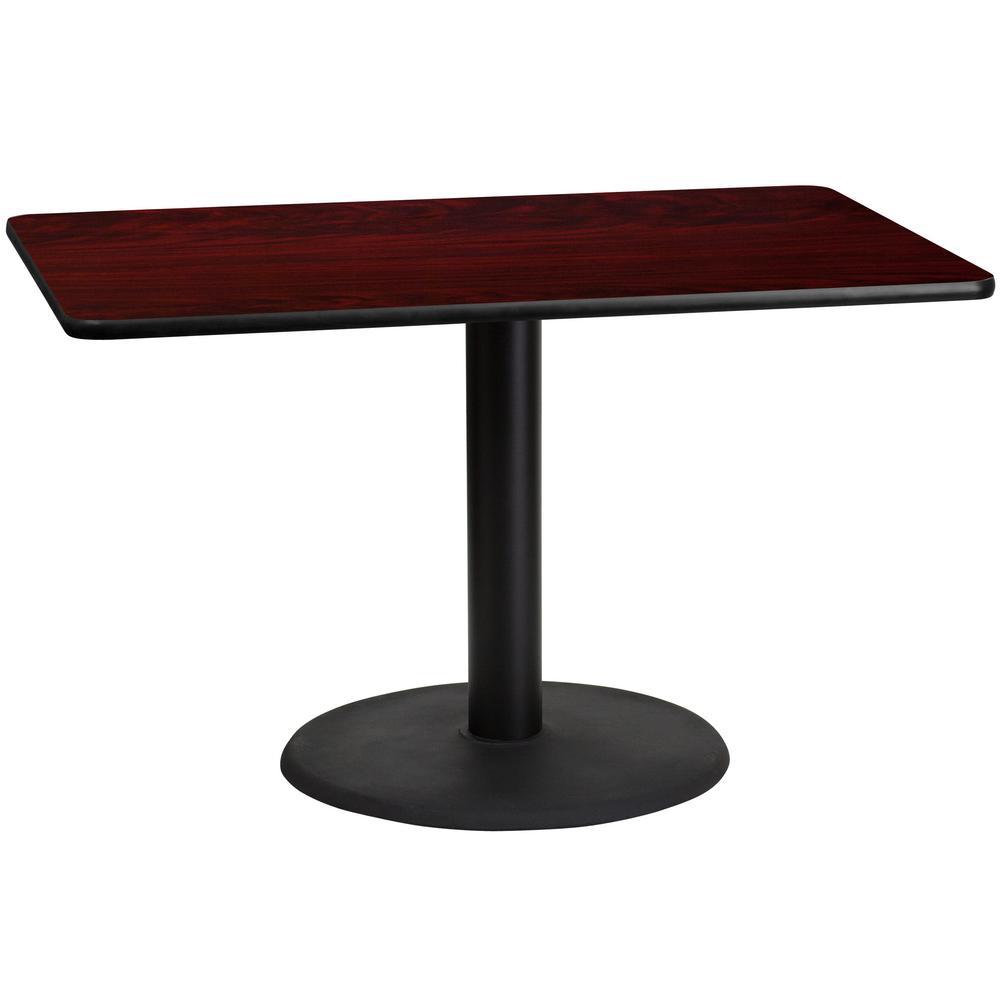 Rectangular Mahogany Laminate Table Top With 24