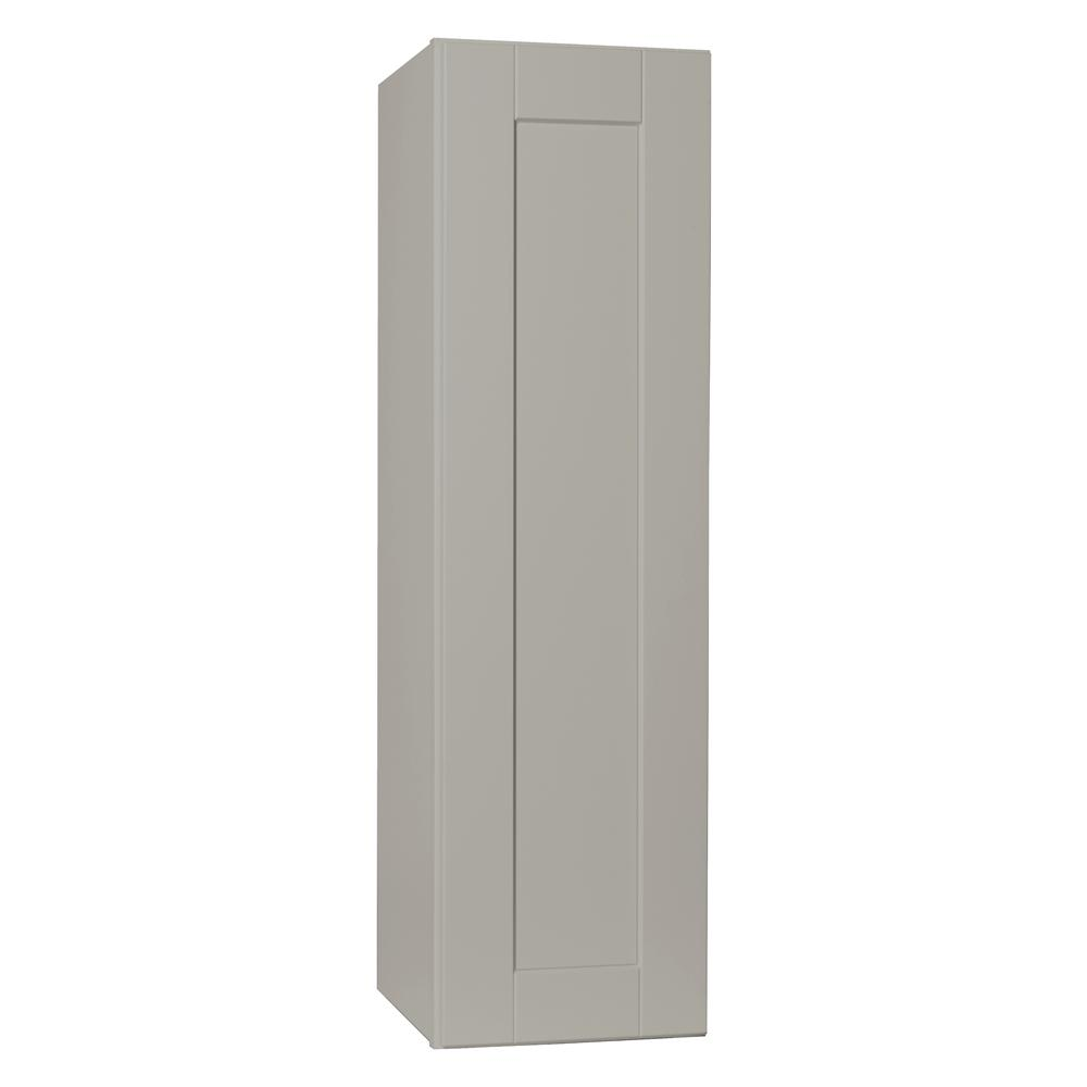 Hampton Bay Shaker Embled 12x42x12 In Wall Kitchen Cabinet Dove Gray