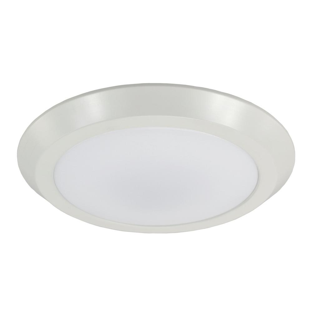 16 in. 25-Watts White Integrated LED Flush-Mount Disk Light