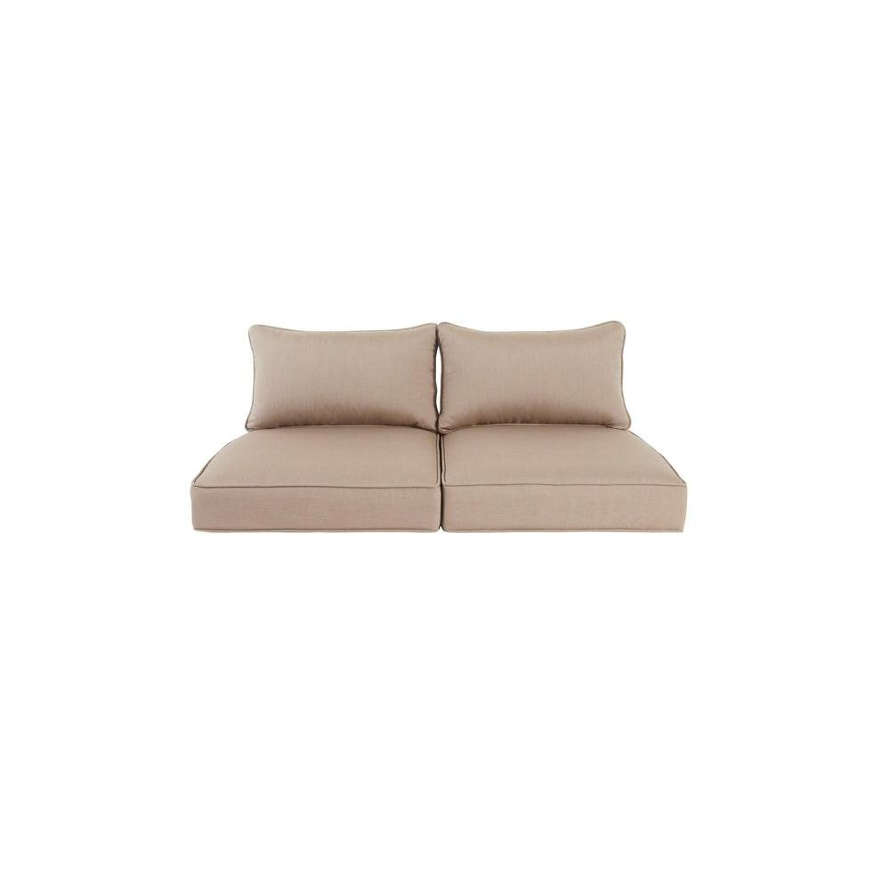 Greystone Replacement Outdoor Loveseat Cushion in Sparrow