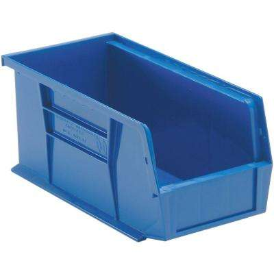 1.3-Gal. Stackable Plastic Storage Bin in Blue (12-Pack)