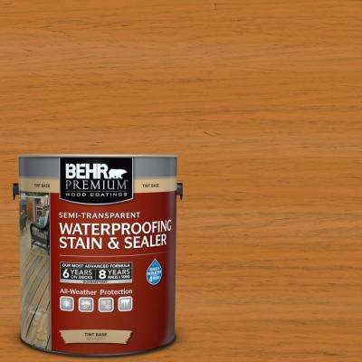 1 gal. #ST-140 Bright Tamra Semi-Transparent Waterproofing Exterior Wood Stain and Sealer