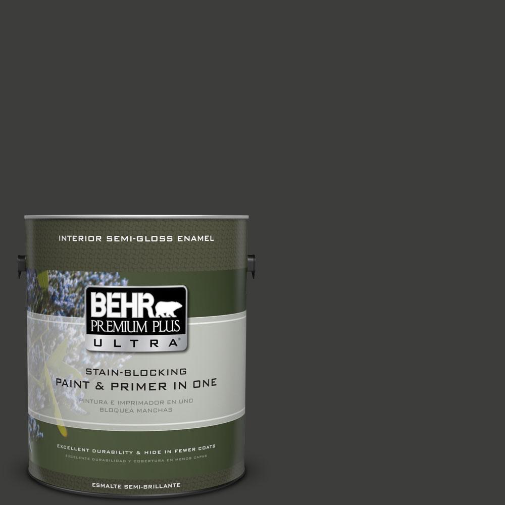 BEHR Premium Plus Ultra 1 Gal. #S H 790 Black Suede Semi