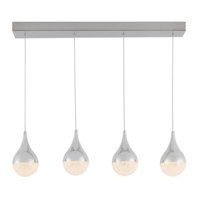 Glitzer 24-Watt Integrated LED Chrome Pendant
