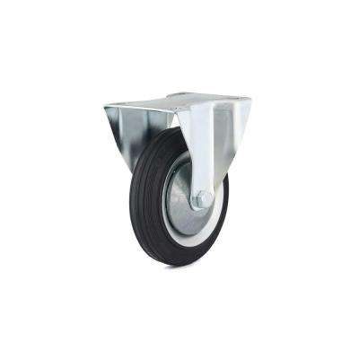 6-5/16 in. black Fixed plate Caster, 308.7 lb. Load Rating